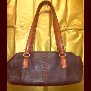 Fossil's Black Leather Shoulder Bag